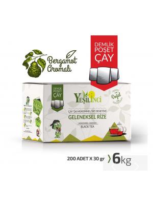 Yeşil İnci Demlik Poşet Bergamot Aromalı 6 kg